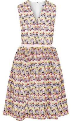 MSGM Embroidered Cotton-Blend Gauze Dress
