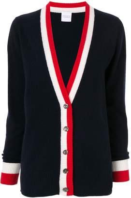 Madeleine Thompson cashmere striped trim cardigan