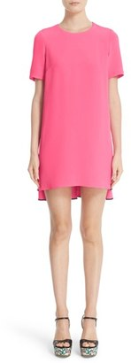 Women's Adam Lippes Contrast Piping Satin Crepe Dress $850 thestylecure.com