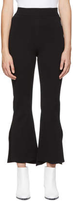 Stella McCartney Black Knit Flared Trousers