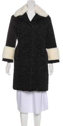 Gucci Quilted Mink-Trim Coat w/ Tags