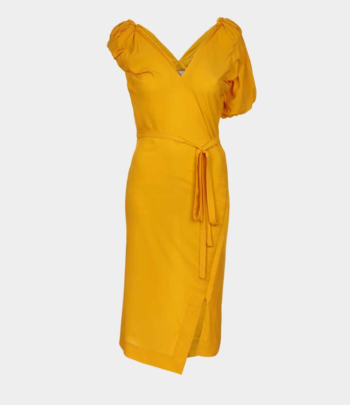 Gabriella Pencil Dress Saffron