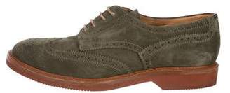Brunello Cucinelli Wingtip Suede Derby Brogues