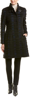 Cinzia Rocca Long Plaid Wool-Blend Coat