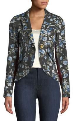 Smythe Floral-Print One-Button Blazer