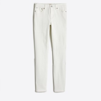 "J.Crew 8"" midrise skinny jean in white denim with 28"" inseam"
