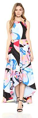 Nicole Miller New York Women's high-Low Maxi Dress Back Cut Out