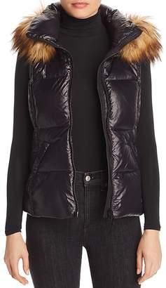 Aqua Faux Fur-Trim Puffer Vest - 100% Exclusive
