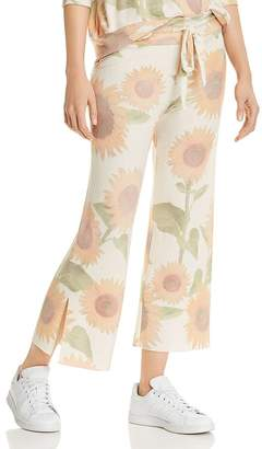 LnA Brushed Sunflower Print Sweatpants