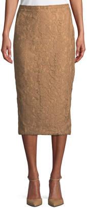 Max Mara Ragione Lace Midi Pencil Skirt