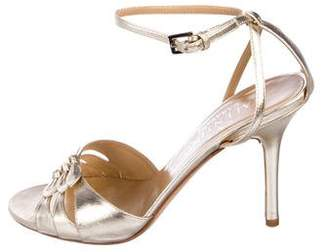 Valentino Leather Mid-Heel Sandals