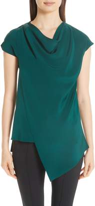 ADAM by Adam Lippes Silk Crepe Cowl Neck Blouse