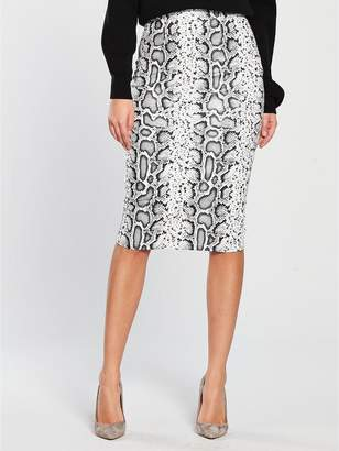 Very Textured Pencil Skirt - Snake Print