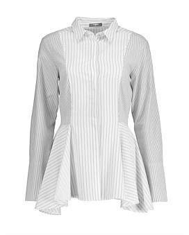 Studio.W Striped Poplin Peplum Shirt