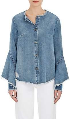Robert Rodriguez Women's Ruffled-Cape Denim Shirt
