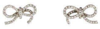 Vera Wang Diamond Ribbon Stud Earrings $725 thestylecure.com