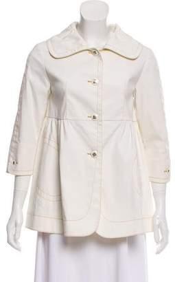 Fendi Three-Quarter Sleeve Button-Up Jacket