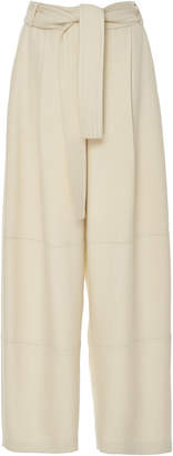 Sally LaPointe Belted Twill Wide-Leg Pants