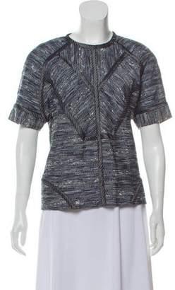 2fd35b8182e3d9 Women Short Sleeve Tweed Tops - ShopStyle