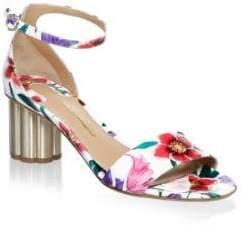 Salvatore Ferragamo Eraclea Floral Leather Sandals