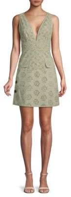 Valentino Eyelet Lace A-Line Dress