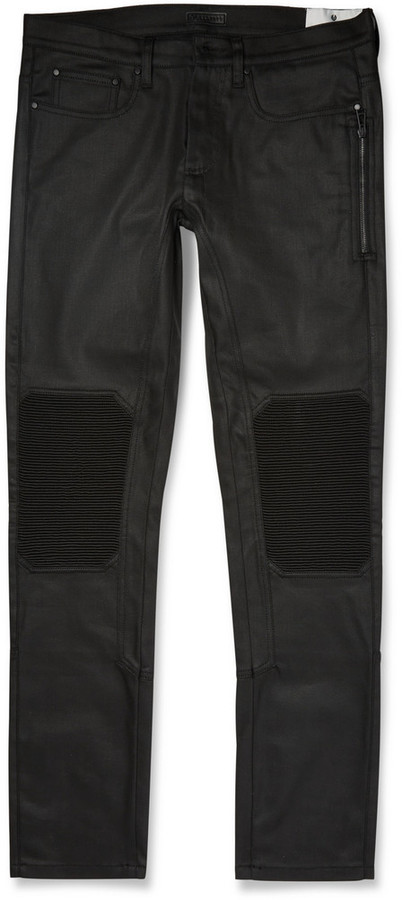 Belstaff - Blackrod Coated Stretch-Denim Biker Trousers