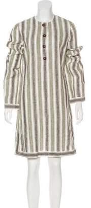Tory Burch Striped Linen Dress