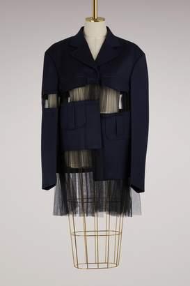Maison Margiela Cut-out wool jacket