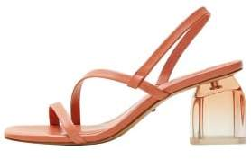 Violeta BY MANGO Leather straps sandals