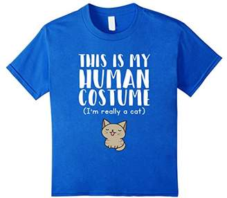 This Is My Human Costume I'm Really A Cat T-Shirt