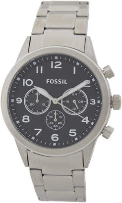 Fossil BQ2119 Black Dial & Silver-Tone Watch