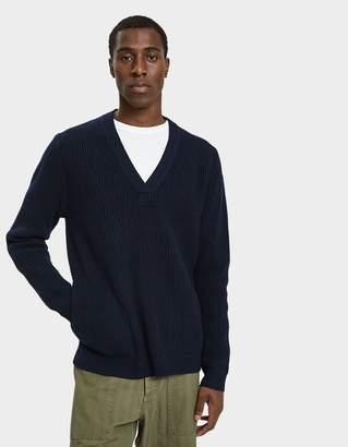 YMC Pocket V-Neck Sweater