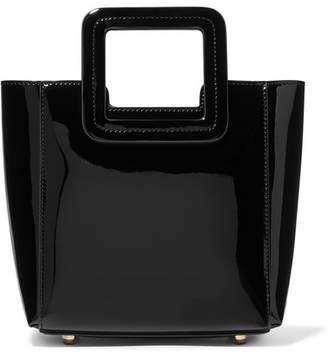 STAUD - Shirley Mini Patent-leather Tote - Black