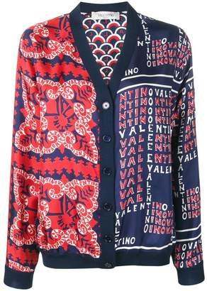 Valentino printed V-neck cardigan