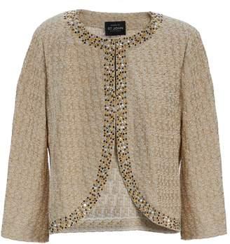 St. John Jiya Sparkle Knit Jacket