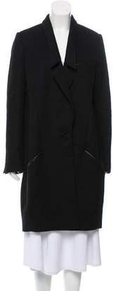 Jason Wu Lace-Trimmed Wool Coat