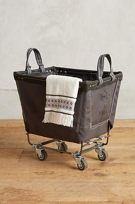 Steele Canvas Basket Corp. Small Mobile Canvas Bin