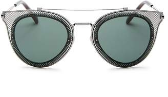 Valentino Brow Bar Round Sunglasses, 53mm