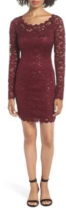 Sequin Hearts Sequin Lace Sheath Dress