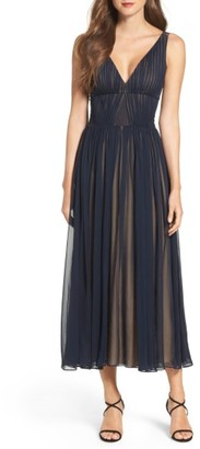 Women's Vera Wang Chiffon Fit & Flare Dress $278 thestylecure.com