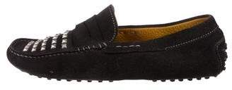 Tod's Suede Studded Driving Loafers
