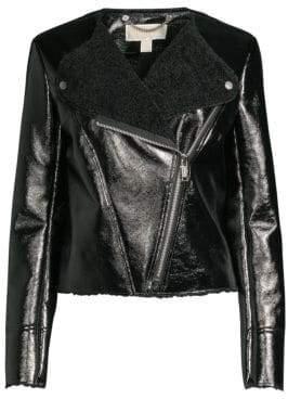MICHAEL Michael Kors Faux Shearling Moto Jacket