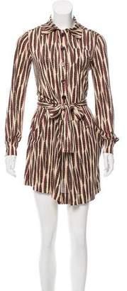 Diane von Furstenberg Silk Stripe Dress
