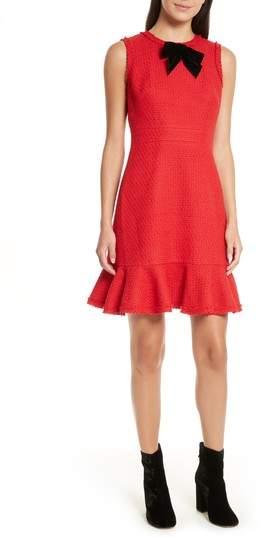 Women's Kate Spade New York Ruffle Hem Tweed Dress