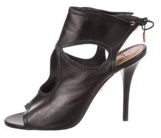 Aquazzura Leather Glove Sandals