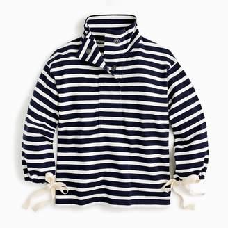 J.Crew Striped snap-neck sweatshirt