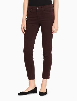 Calvin Klein skinny garment-dyed ankle jeans