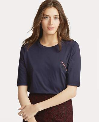 Ralph Lauren Jersey Elbow-Sleeve Top
