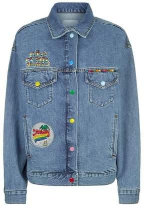Mira Mikati Embroidered Denim Jacket