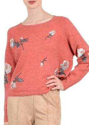 Molly Bracken Floral-Print Long-Sleeve Sweater